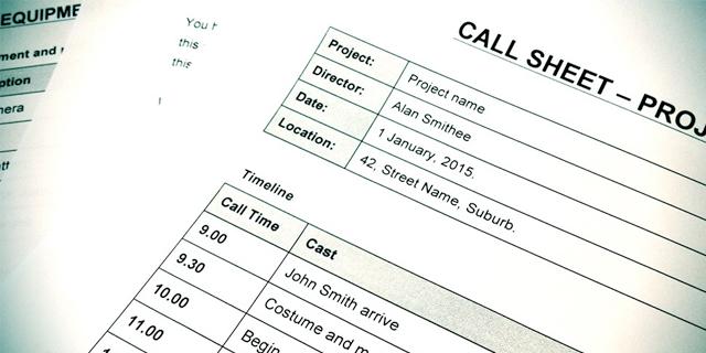 callsheet printing