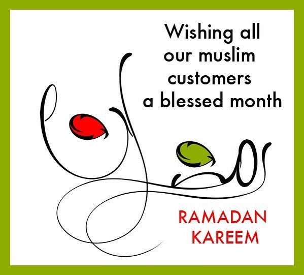 We wish our muslim customers and friends a blessed month!