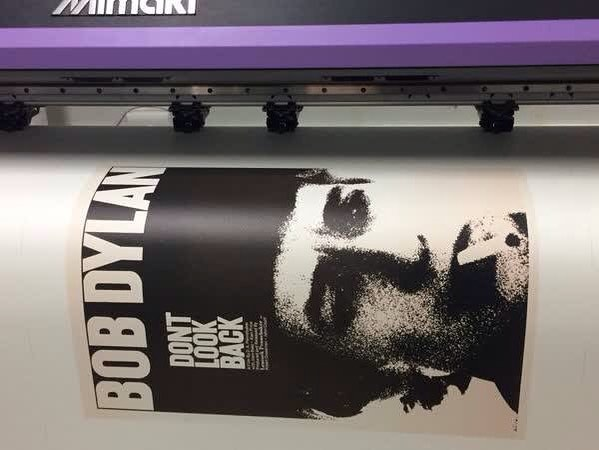 We recently had the pleasure of printing this Bob Dylan poster on our large format printer for one of our superstar customers.
