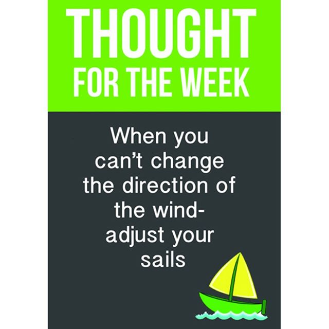 When you can't change the direction of the wind - adjust your sails!