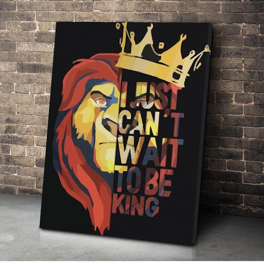 Lion King Canvas Prints