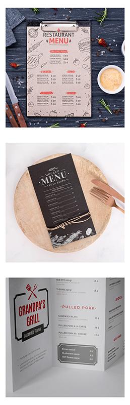 Food menu printing