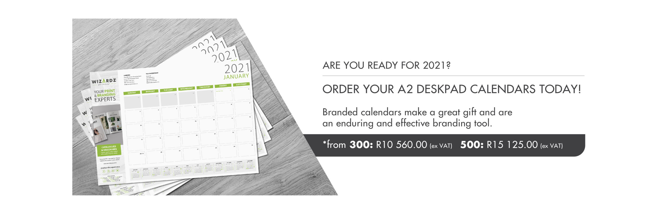Deskpad Calendar Promotions Website Banner