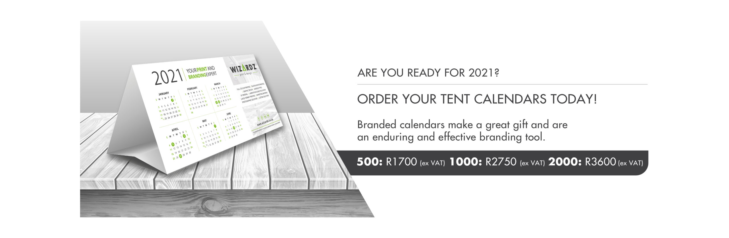 Tent Calendar Promotions Website Banner
